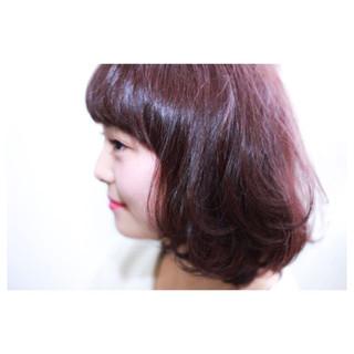 ピンク レイヤーカット ゆるふわ ナチュラル ヘアスタイルや髪型の写真・画像