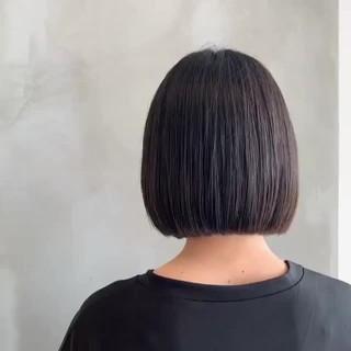上品 ミニボブ 透明感 ナチュラル ヘアスタイルや髪型の写真・画像