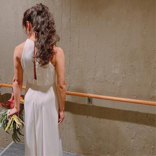 ロング ブライダル ヘアアレンジ 結婚式ヘアアレンジ ヘアスタイルや髪型の写真・画像