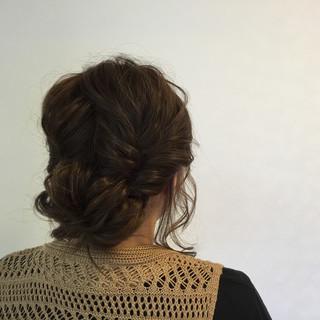 セミロング 大人かわいい ショート 簡単ヘアアレンジ ヘアスタイルや髪型の写真・画像