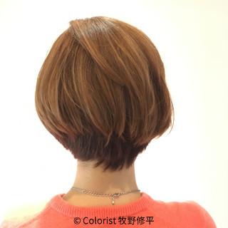 ハイライト ゆるふわ ショート フェミニン ヘアスタイルや髪型の写真・画像