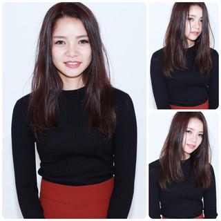 黒髪 セミロング 冬 イルミナカラー ヘアスタイルや髪型の写真・画像 ヘアスタイルや髪型の写真・画像