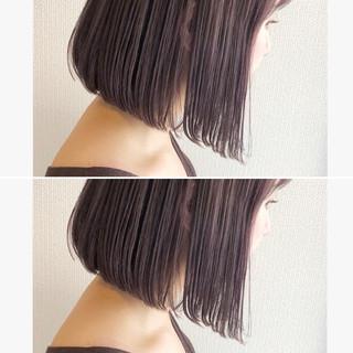 髪質改善 ラベンダーアッシュ ミニボブ モード ヘアスタイルや髪型の写真・画像