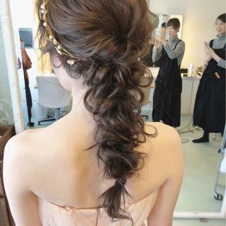 アンニュイ 結婚式 パーティ ロング ヘアスタイルや髪型の写真・画像