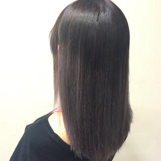 ハイライト 外国人風 グレージュ パープル ヘアスタイルや髪型の写真・画像