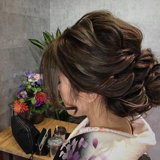 ロング ヘアアレンジ 謝恩会 ママ ヘアスタイルや髪型の写真・画像
