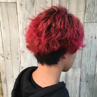 メンズ ホワイトブリーチ ヘアアレンジ ストリート ヘアスタイルや髪型の写真・画像