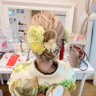 振袖ヘア エレガント 着物 成人式ヘア ヘアスタイルや髪型の写真・画像