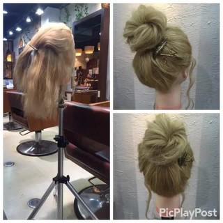ヘアアレンジ メッシーバン 外国人風 簡単ヘアアレンジ ヘアスタイルや髪型の写真・画像 ヘアスタイルや髪型の写真・画像