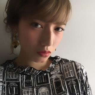 暗髪 モード ハイライト ブルージュ ヘアスタイルや髪型の写真・画像