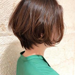 ボブ ストレート デート 簡単スタイリング ヘアスタイルや髪型の写真・画像