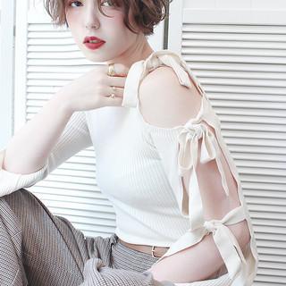 サロンモデル ベリーショート メイク ショート ヘアスタイルや髪型の写真・画像
