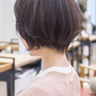 フェミニン 大人かわいい ショートヘア ショートカット ヘアスタイルや髪型の写真・画像
