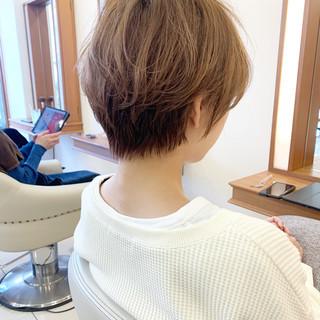 ナチュラル ショート 小顔ショート ショートヘア ヘアスタイルや髪型の写真・画像