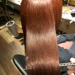 ロング 美髪 髪質改善トリートメント ナチュラル ヘアスタイルや髪型の写真・画像