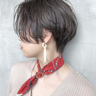 ハイライト グレージュ デート ヘアアレンジ ヘアスタイルや髪型の写真・画像
