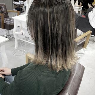 ブリーチ必須 コントラストハイライト 透明感カラー ミディアム ヘアスタイルや髪型の写真・画像