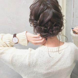 謝恩会 結婚式 成人式 ナチュラル ヘアスタイルや髪型の写真・画像