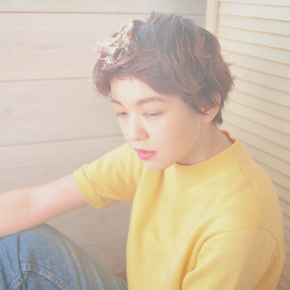 グラデーションカラー ベリーショート ヘアアレンジ 簡単ヘアアレンジ ヘアスタイルや髪型の写真・画像