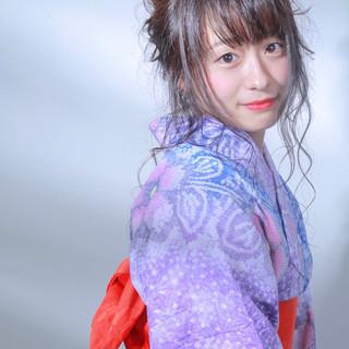 浴衣アレンジ ロング 成人式 ヘアアレンジ ヘアスタイルや髪型の写真・画像