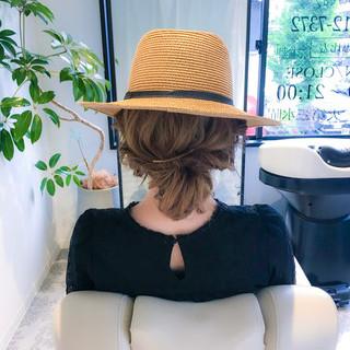 簡単ヘアアレンジ ナチュラル アウトドア 女子会 ヘアスタイルや髪型の写真・画像