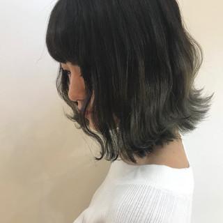 透明感カラー ボブ デート 柔らかパーマ ヘアスタイルや髪型の写真・画像