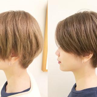 ショートボブ ショート デート スポーツ ヘアスタイルや髪型の写真・画像