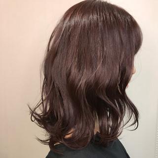色気 ミディアム ボブ コーラル ヘアスタイルや髪型の写真・画像