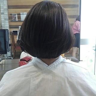 ワンカール アッシュ 秋 グレージュ ヘアスタイルや髪型の写真・画像