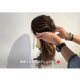 アウトドア ヘアアレンジ 梅雨 簡単ヘアアレンジ ヘアスタイルや髪型の写真・画像