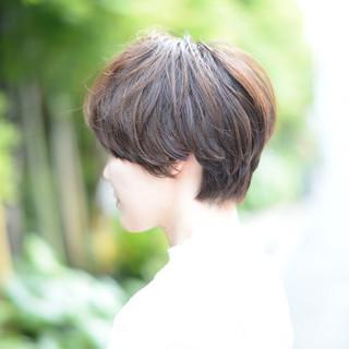 モード パーマ 外国人風 ショート ヘアスタイルや髪型の写真・画像 ヘアスタイルや髪型の写真・画像