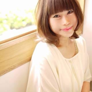 丸顔 フェミニン ゆるふわ 大人かわいい ヘアスタイルや髪型の写真・画像
