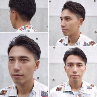 メンズショート ナチュラル ショート ツーブロック ヘアスタイルや髪型の写真・画像