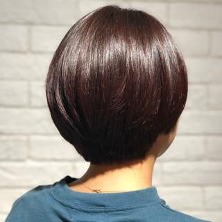 デート ナチュラル ショート マッシュ ヘアスタイルや髪型の写真・画像