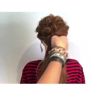 夏 アウトドア 色気 ヘアアレンジ ヘアスタイルや髪型の写真・画像