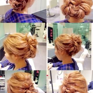 ナチュラル 大人かわいい ヘアアレンジ 編み込み ヘアスタイルや髪型の写真・画像