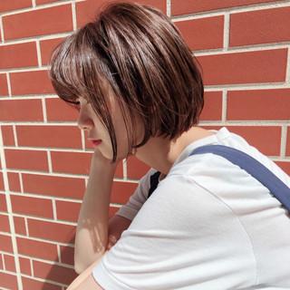 フェミニン 透明感 小顔 ショート ヘアスタイルや髪型の写真・画像