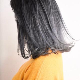 セミロング ストリート 外国人風カラー 外国人風 ヘアスタイルや髪型の写真・画像