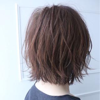 ニュアンス ショートボブ 小顔 ナチュラル ヘアスタイルや髪型の写真・画像