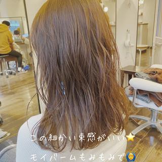 セミディ ナチュラル 透明感 セミロング ヘアスタイルや髪型の写真・画像