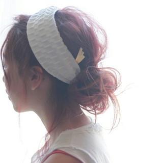 外国人風 ゆるふわ 簡単ヘアアレンジ セミロング ヘアスタイルや髪型の写真・画像 ヘアスタイルや髪型の写真・画像
