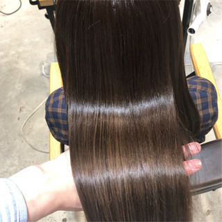 トリートメント 髪質改善トリートメント オフィス ロング ヘアスタイルや髪型の写真・画像