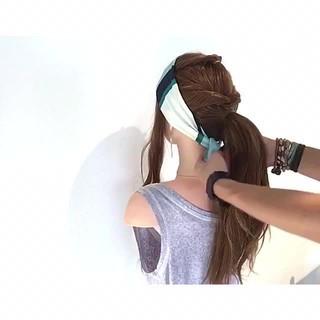 色気 涼しげ ロング 夏 ヘアスタイルや髪型の写真・画像