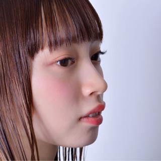 透明感 セミロング ミディアム アッシュブラウン ヘアスタイルや髪型の写真・画像