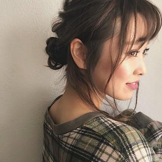アンニュイほつれヘア ロング ヘアアレンジ ナチュラル ヘアスタイルや髪型の写真・画像