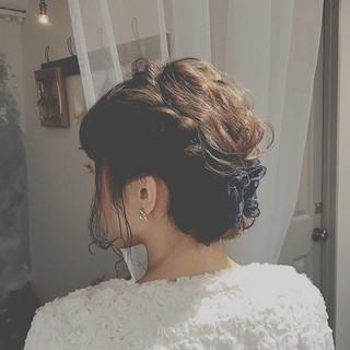 大人かわいい 愛され 結婚式 ゆるふわ ヘアスタイルや髪型の写真・画像 ヘアスタイルや髪型の写真・画像