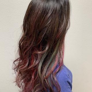 外国人風カラー バレイヤージュ エレガント グラデーションカラー ヘアスタイルや髪型の写真・画像
