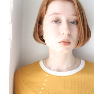 アウトドア 大人可愛い ナチュラル可愛い ボブ ヘアスタイルや髪型の写真・画像