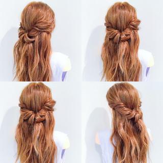夏 上品 簡単ヘアアレンジ アウトドア ヘアスタイルや髪型の写真・画像