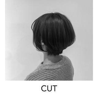 マッシュショート ハンサムショート 暗髪 ショートボブ ヘアスタイルや髪型の写真・画像 ヘアスタイルや髪型の写真・画像